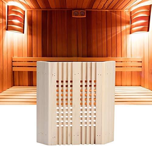 Mumusuki Sauna Hoofdsteun Licht Cover Kamer Explosiebestendige Lamp Bescherming Cover Vierkant Hout Hoek Lamp Schaduw Licht Cover Sauna Accessoires Thuis Stoom