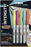 Bic Marking Intense - Rotuladores permanentes, colores surtidos, paquete de 5 unidades