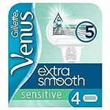 Gillette Venus Extra Smooth Sensitive Lames de Rasoir pour Femme 4 Unité