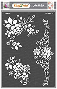 Craftreat Flower Stencil for Craft and Art - A Bouquet of Roses - Size A4 - Reusable DIY Stencils for Painting - Rose Flower Stencils for Wall Painting - Roses Stencil