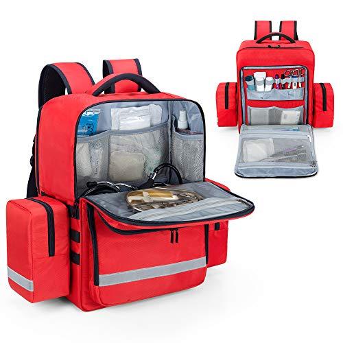 Trunab 救急バッグ リュック メディカルリュック 救急リュック 防災 非常用 大容量 軽量 アウトドア 登山 キャンプ 赤