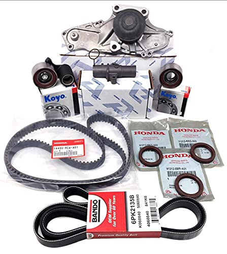 TIMING BELT KIT (As in photo) GENUINE OEM | Fits select TL, MDX, RL, ACCORD, ODYSSEY, RIDGLINE, PILOT ZDX vehicles. Complete Kit