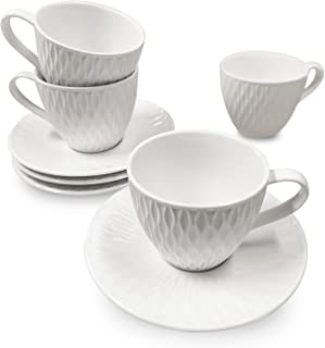 Espresso Cups with Saucers SET OF 4