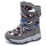 UBFEN Snow Boots Boys Winter Warm Waterproof Outdoor Bootie High...
