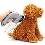 QNMM Limpiador De Pelo Eléctrico para Mascotas Herramienta Limpiador De Perros Peine Lavadero De Mascotas Cepillo De Aseo Aspirador De Cabello para Mascotas