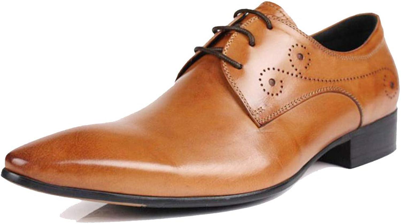 bilved Derby Pointed British Minimalist män läder skor Formal wear Handgjort Party Work