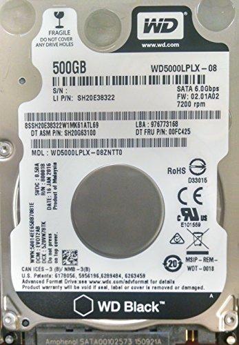 "Lenovo WD Black 500GB 7200 RPM 2.5"" SATA ..."