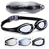 AdePoy Swimming Goggles Anti Fog Crystal Clear Vision with UV Protection No..