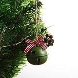 XXXKK Decoración Navideña,Rosa Navidad Campanas Redondas Bolas Adornos Brillo Decoración De Árboles De Navidad Bolas Decoraciones Colgantes De Navidad Colgante Pequeño De Navidad para La Deco