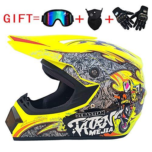 NF Adulte Hors-Route Casque Dot Off-Road Moto Motocross ATV Moto Off-Road (S/M/L/XL),B,M