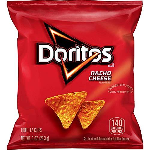 Doritos Nacho Cheese Flavored Tortilla Chips, 1 oz (Pack of 40)