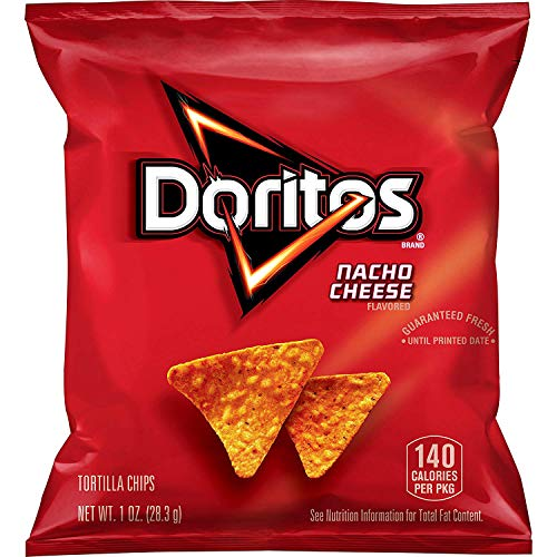 Doritos Nacho Cheese Flavored Tortilla Chips 1 oz Pack of 40