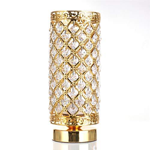 MINGRT Lámpara de Mesa de Cristal, E27 Base Luz de Escritorio, Moderno Luces de Noche Metalica para Hogar Dormitorio Sala de Estar Cafetería Decorativo (Color : Gold)