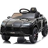 Little Brown box Kids 12V Licensed Lamborghini Urus Ride on Truck, Driving...
