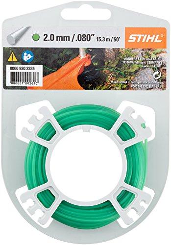 STIHL 9302335 Rasentrimmer Line grün 2,0 mm x 15,3 m, Motorsensenfaden, Mähfaden, Trimmerfaden