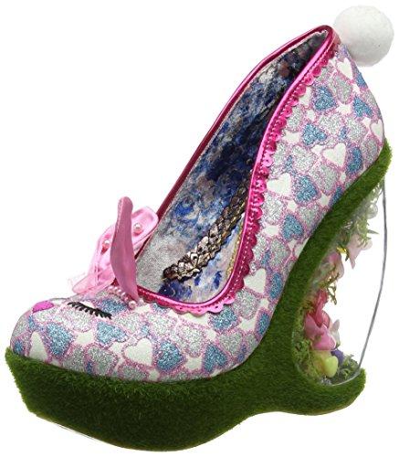 Irregular Choice Damen Hop 2 It Fersen mit geschlossenem Zehenbereich, Rose, 40 EU