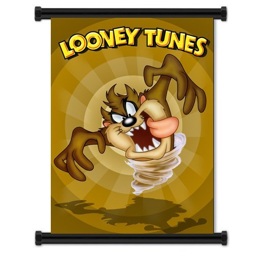 Yutirerly Looney Tunes Taz Tazmanian Devil Cartoon Fabric Wall Scroll Poster (32'x42') Inches