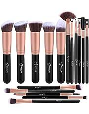 Pennelli Make Up BESTOPE Pennelli per il Trucco Set di 16 Pennelli per il Make-up Professionali, Eyeliner, Ombretto, Sopracciglia.