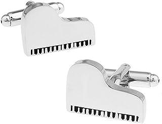 Gemelli d'argento del pianoforte a coda in una lussuosa scatola di presentazione. Novità per tema musicale