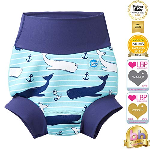 Splash About Baby Kid's New Improved Happy Nappy, Blue(Vintage Moby), 6-12 months