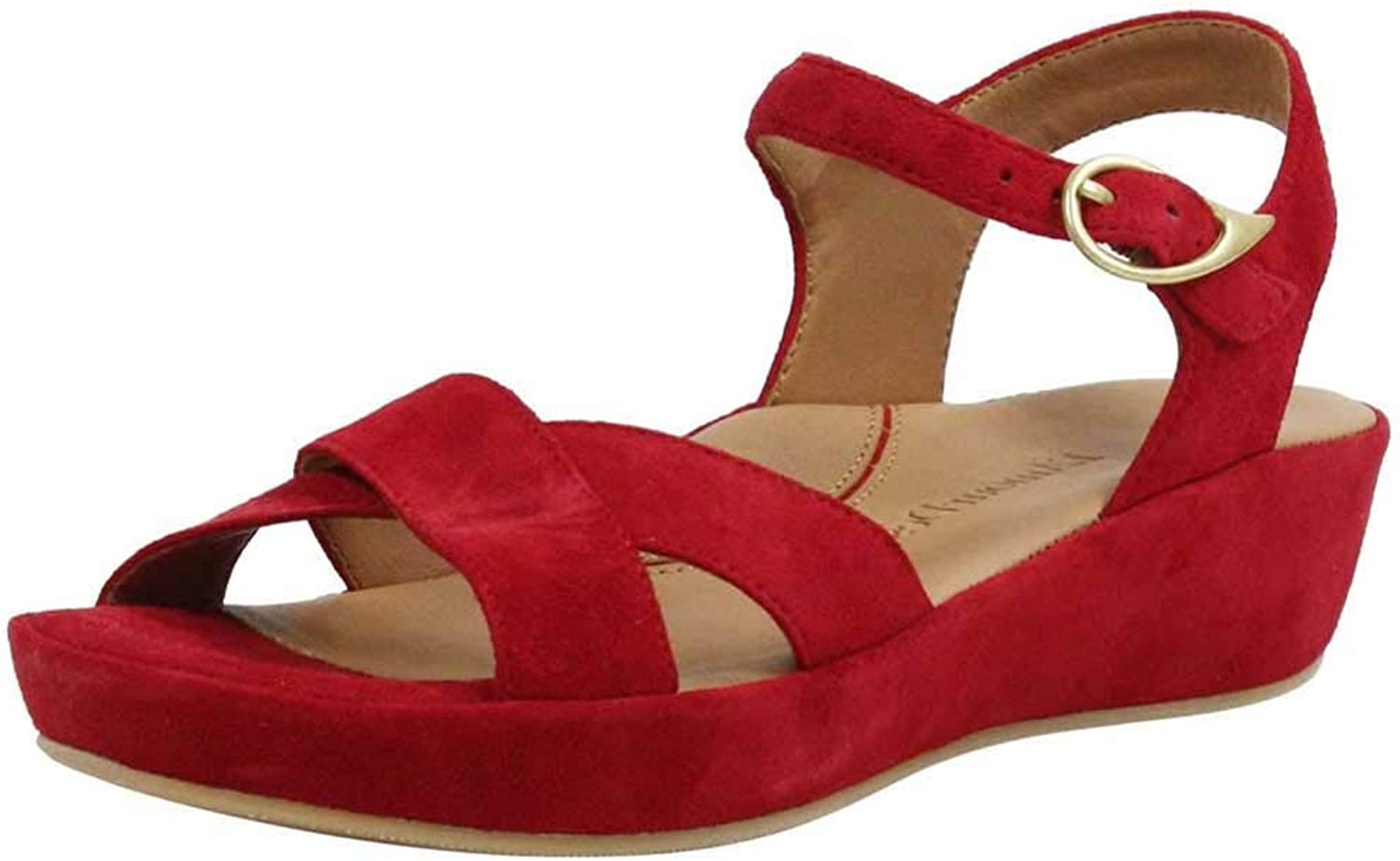 Lamour Des Pieds Women's Casimiro in Bright Red Kid Suede - Size 7.5 M