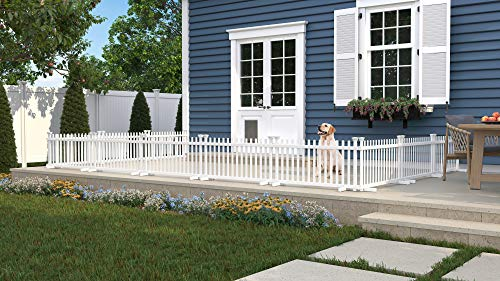 Zippity Outdoor Products ZP19055 Portable Puppy Fence (2 Pack), White