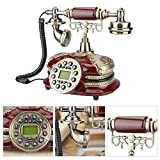 Bewinner Decoration Landline,Retro Style Resin Material Landline Office Telephone Desk Phone Home Decorative Telephones,Automatic Detection of FSK and DTMF Caller ID,1 Set of Automatic IP