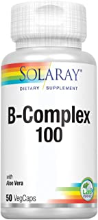 Solaray Vitamin B-Complex 100 | Supports Healthy Hair & Skin, Immune System Function, Blood Cell Formation & Energy Metabo...