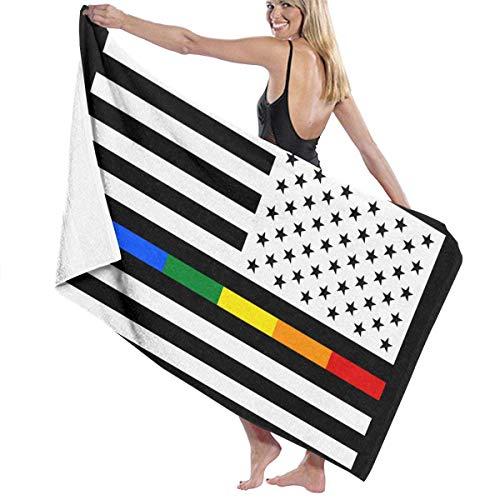 asdew987 Toallas de playa Gay Pride American Flag Toallas de baño para adolescentes y adultos, toalla de viaje 31 x 51 pulgadas