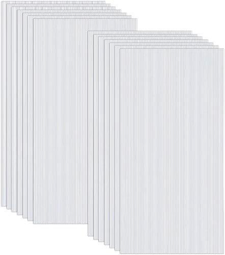 UISEBRT 14 Stück Polycarbonat Hohlkammerstegplatten UV-beständigen Polycarbonatplatten für Gartengewächshäuser Doppelstegplatte 605x1210x4mm Transparent