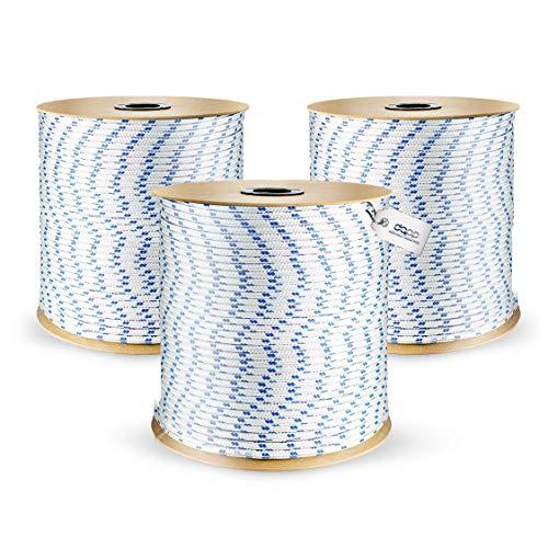 50m POLYPROPYLENSEIL 10mm WEIß Polypropylen Seil Tauwerk PP Flechtleine Textilseil geflochten