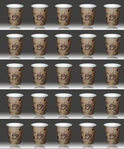 2000 x Coffee-to-go Becher 0,2 Liter # edles Design # Pappbecher 200ml # Papierbecher aus 320er Papier # für Party, Kiosk, Tankstelle oder einfach für zuhause # Einwegbecher zum Mitnehmen # cappuccino latte macchiato Milchkaffee café