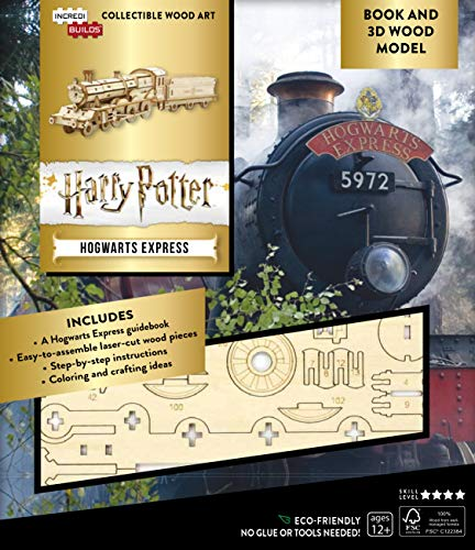 IncrediBuilds: Harry Potter: Hogwarts Express Book and 3D Wood Model
