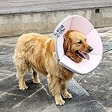 ZYY-Home curtain Collare Cervicale Postoperatoria per Cani E Gatti, per Favorire La Wundvernarbung,Rosa,XXL