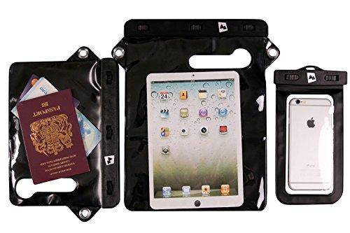 AdventureAustria universele waterdichte hoes geschikt voor smartphones, tablets en waardevolle spullen - beschermt tegen water, stof, zand, sneeuw. Compatibel met iPhone iPad Samsung Kindle enz.