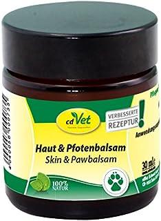 cdVet Naturprodukte Haut & Pfotenbalsam 30 ml - Dog - care product - hypersensitive + dry + flaky skin - protection agains...