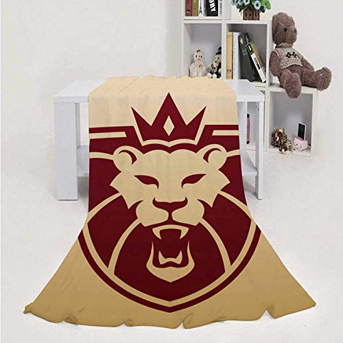 959 Custom Personalized Lion - - - Animal,Flannel Blanket Super Soft Bed Blanket Weight Sofa Throw Blanket Big Cat 70''x80''(WxL)
