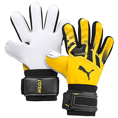 PUMA Unisex – Erwachsene One Grip 1 RC Junior Torwarthandschuhe, Ultra Yellow Black White, 5