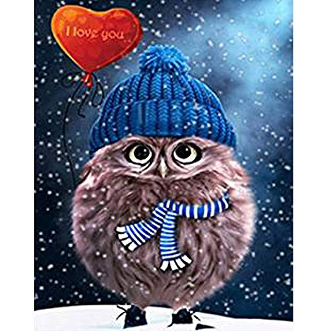 Diamond Painting Kits, DIY 5D Square Full Drill Art Perfect for Relaxation and Home Wall Decor(Love owl,12x16inch)