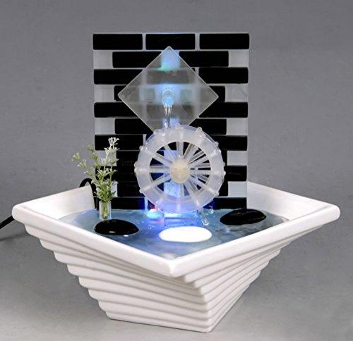 WeiVa Feng Shui Keramik - Glas Zimmerbrunnen mit LED Beleuchtung 791
