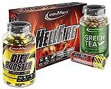 IronMaxx Sporty Shape Diet Pack, 12x 60ml Carnitine Shot Wild Berry, 1x 60 Kapseln XXL Hellfire...