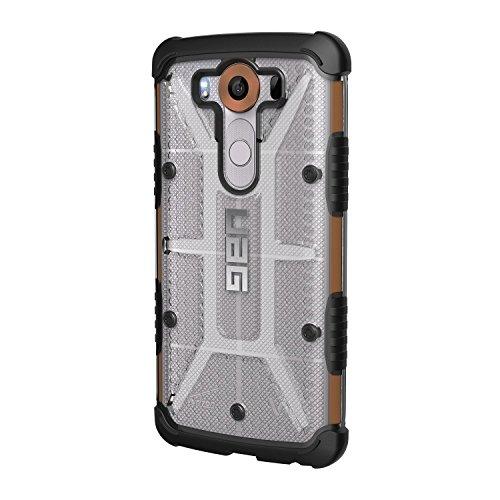 Urban Armor Gear Plasma Hülle für das LG V10 Handyhülle nach US-Militärstandard (Verstärkte Ecken, Sturzfest, Antistatisch, Vergrößerte Tasten) - transparent