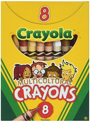 Multicultural Crayons Reg 8-pk (Set of 6)
