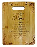 Recipe for a Mom Cute Funny Laser Engraved Bamboo Cutting Board - Wedding, Housewarming,...