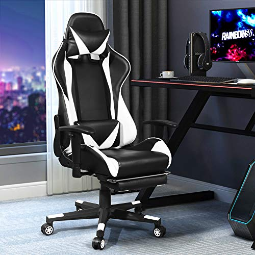 HOMEMAKE FURNITURE Silla E-Sports, Silla de Juego para computadora Racing Office, Silla ergonómica para Juegos, Estilo Racing con...
