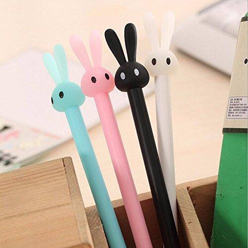 12 Pack Bunny Rabbit Gel Ink Pen 0.5mm Kawaii Student Office Supplies