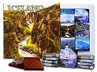 """DA CHOCOLATE キャンディ スーベニア """"アイスランド""""ICELAND チョコレートセット 5×5一箱 (River)"""