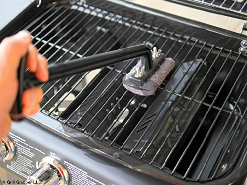 Grill Grubber BBQ Cleaning Brush Safe for People, Bristle-Free - NO Bristles That can Stick to Your Food, Made in USA!