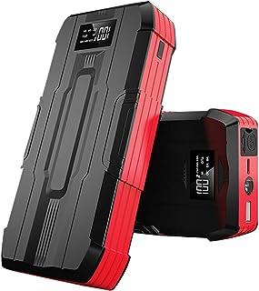 LUGUIIC Arranque de carro de 12 V, bateria de carro 600 A 11000 mAh, carregador portátil com porta USB, tela LCD e luz LED...
