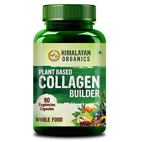 Himalayan Organics Organic Collagen Builder for Hair and Skin With Biotin & Vitamin C - 90 Veg Capsules